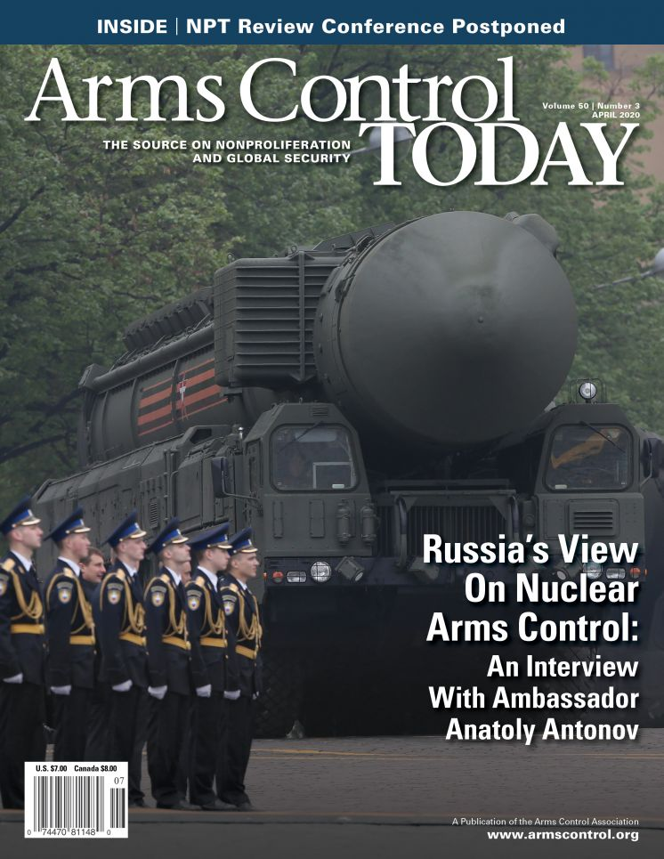Arms Control Today, Краткий обзор новостей Апрель 2020 г.