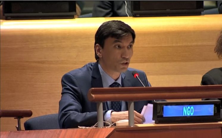 Director of the Center for International Security and Policy, Alimzhan Akhmetov, delivered a statement on behalf of the International Campaign to Abolish Nuclear Weapons