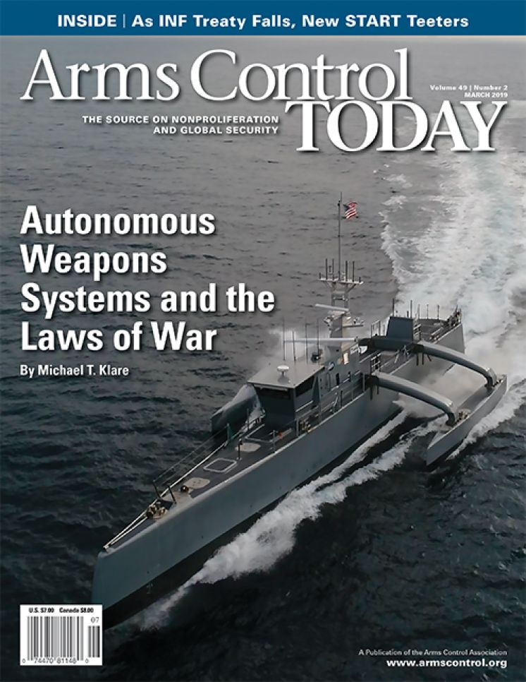 Arms Control Today, News in Brief, March 2019